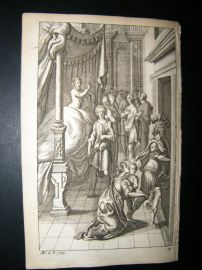 Dryden Works of Virgil 1709 Classical Engraving. Creusa. Greek Mythology